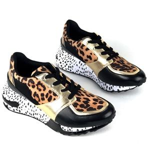 Steve Madden Leopard Animal Cliff Sneakers